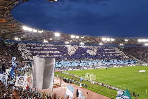Lazio fans re-creating their club logo