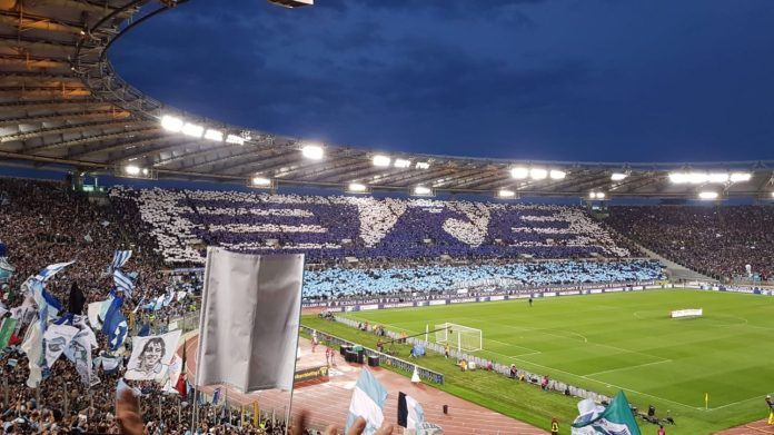 Lazio fans re-creating their club logo