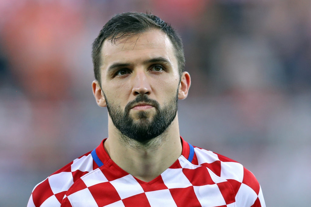 Milan Badelj playing for his home nation of Croatia, Source- SempreInter
