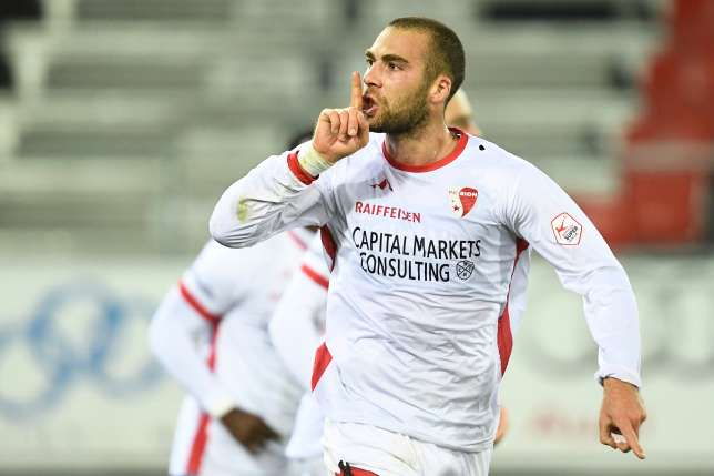 Pajtim Kasami playing for FC Sion in the Swiss Premier League, Source- Blick