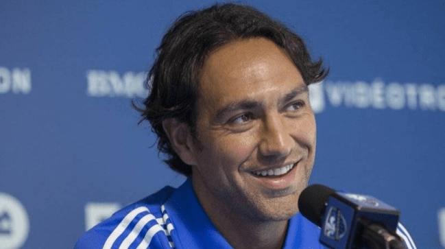 Alessandro Nesta at a Montreal Impact presser, Source: www.ouest-france.fr
