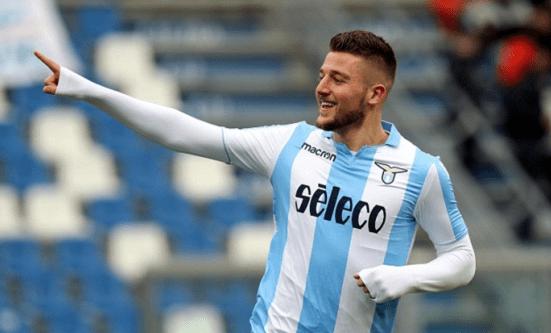 Serbian Milinkovic-Savic of Lazio, Source- DailyMail