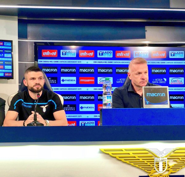 Berisha and Tare, Source- Official S.S.Lazio