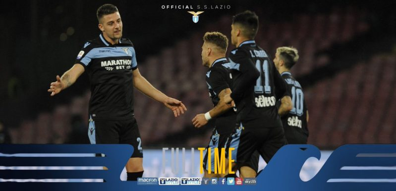 Full Time - Napoli vs Lazio, Source- Lazio