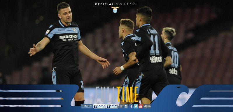 Full Time - Napoli vs Lazio, Source- Lazio