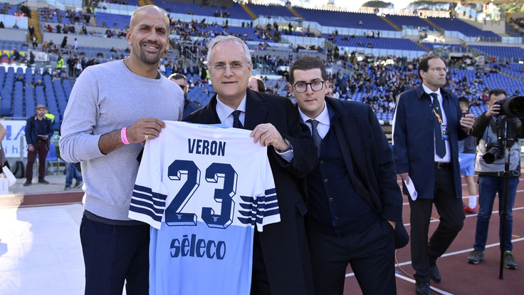 Juan Sebastian Veron and Claudio Lotito, Source- Getty Images
