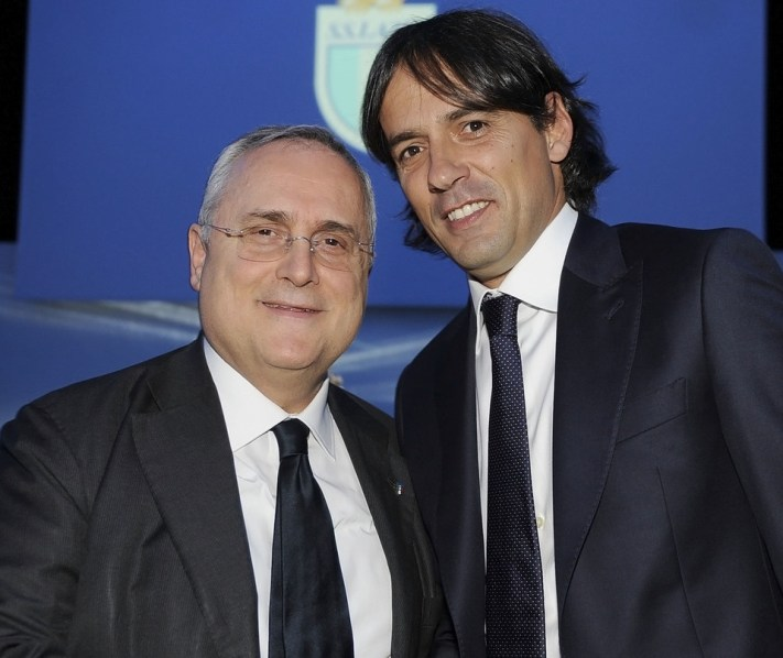 Claudio Lotito and Simone Inzaghi, Source- leggo.it