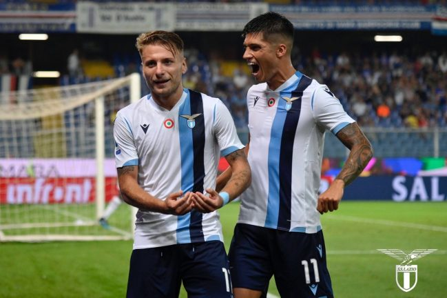 Ciro Immobile and Joaquin Correa, Source- Official S.S.Lazio