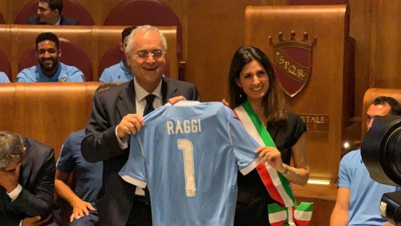 Claudio Lotito and Virginia Raggi