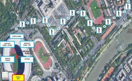 Piazzale Ponte Milvio to Stadio Olimpico