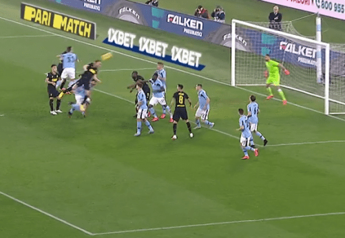Diego Godin's Header Against Lazio, Source - Premier Sports