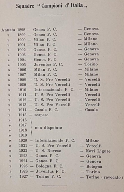 Page 63 of the 'FIGC Official Yearbook of 1926/1927', Source- LazioStory.it