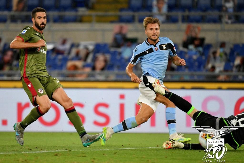 Ciro Immobile During Lazio vs Cagliari, Source- Official S.S. Lazio