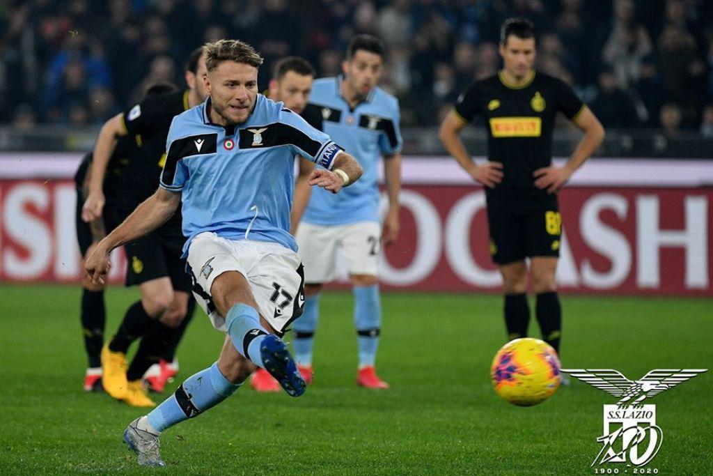 2019/20 Serie A - Matchday 24 - Lazio Vs Inter Milan - Ciro Immobile Penalty, Source - Official S.S. Lazio