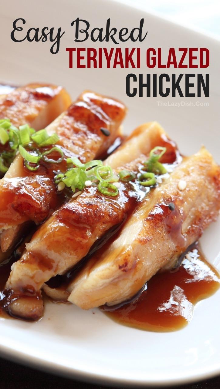 Easy Baked Teriyaki Chicken Recipe - The Lazy Dish