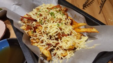 Kimchi Fries - I'm a sucker for well-cooked fries! So good with kimchi.