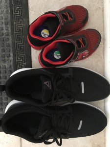 big shoes and small shoes
