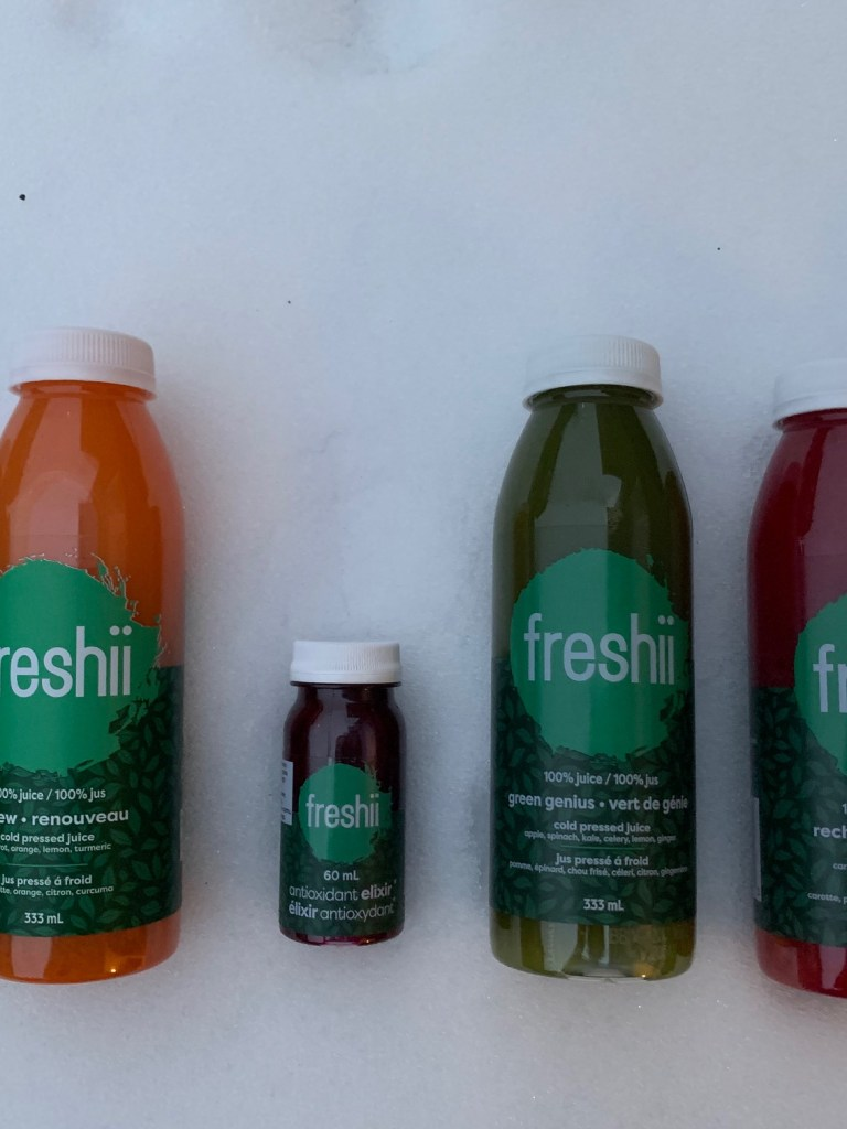 freshii juice bottles