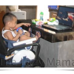 Fisher Price High Chair Seat Compact Dining Table And Chairs Review Space Saver The Lazy Mama Converted Into A Booster