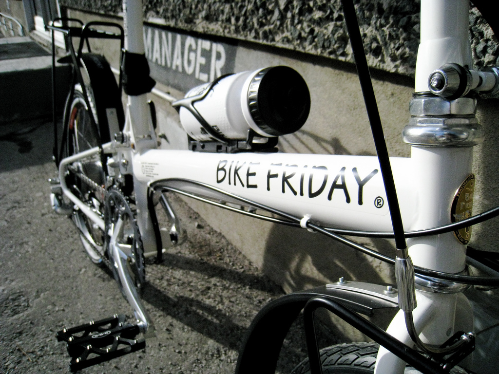 Bike Friday did a great job on the white paint...