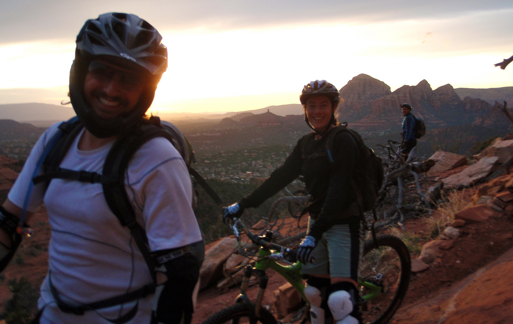 Kurt & Jen enjoying a beautiful desert sunset