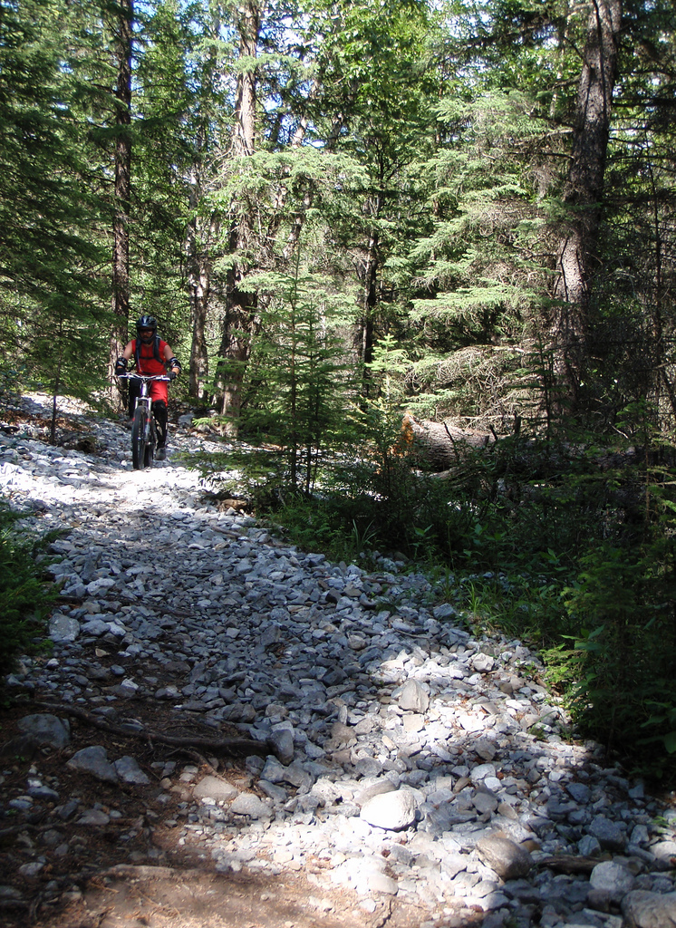 """6"""" of suspension travel sure tames a rocky trail!"""