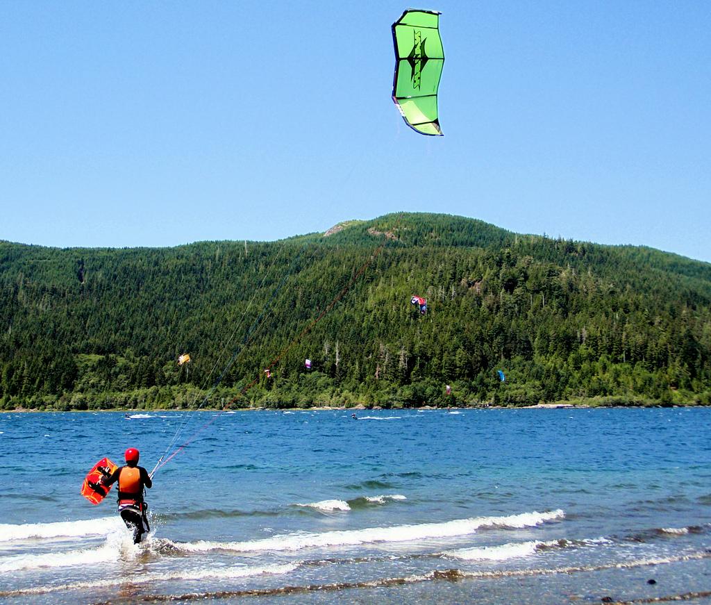 Launching at Lake Nitinat BC