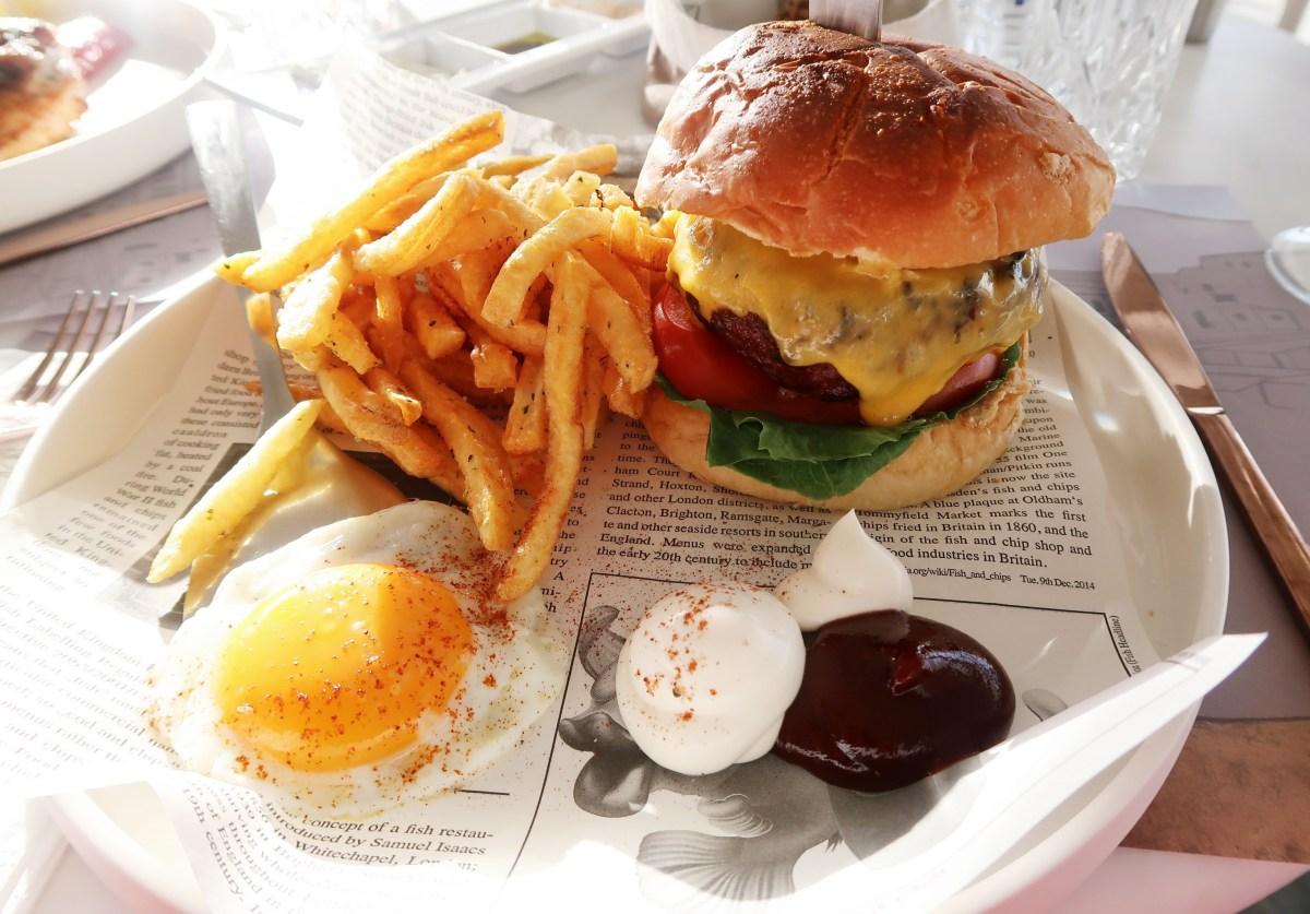 Burger at Raya Mykonos - Seabass at Kapari Restaurant Mykonos - Best Restaurants in Mykonos
