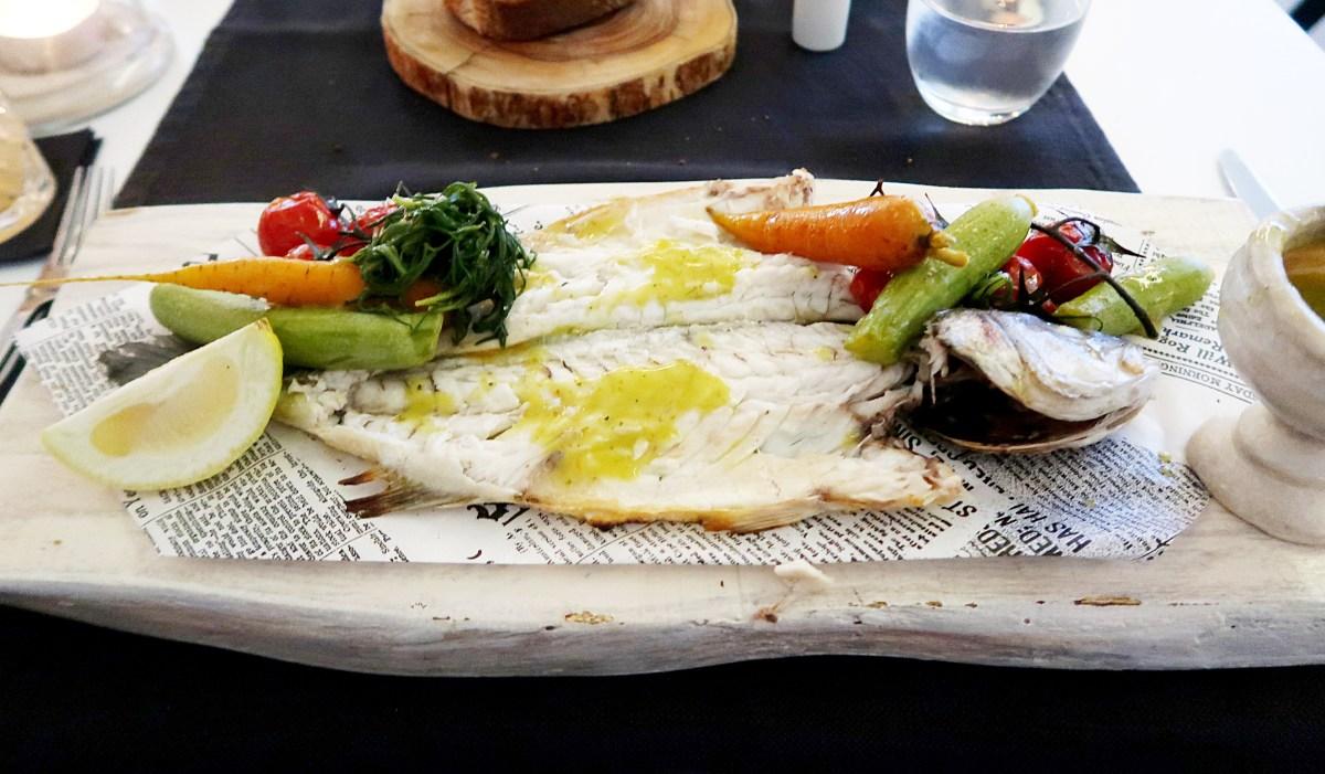 Seabass at Kapari Restaurant Mykonos - Best Restaurants in Mykonos