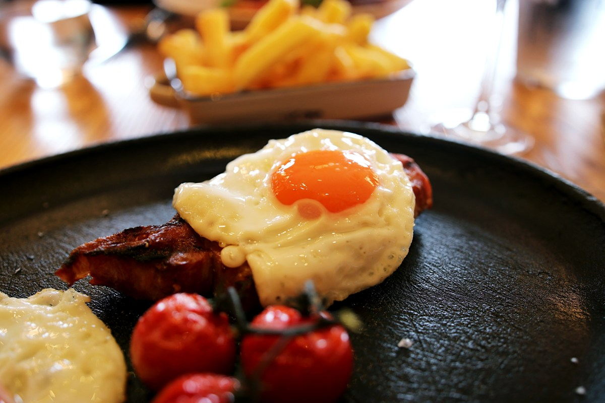 Fried egg and bacon chop - Gillray's Steakhouse Review