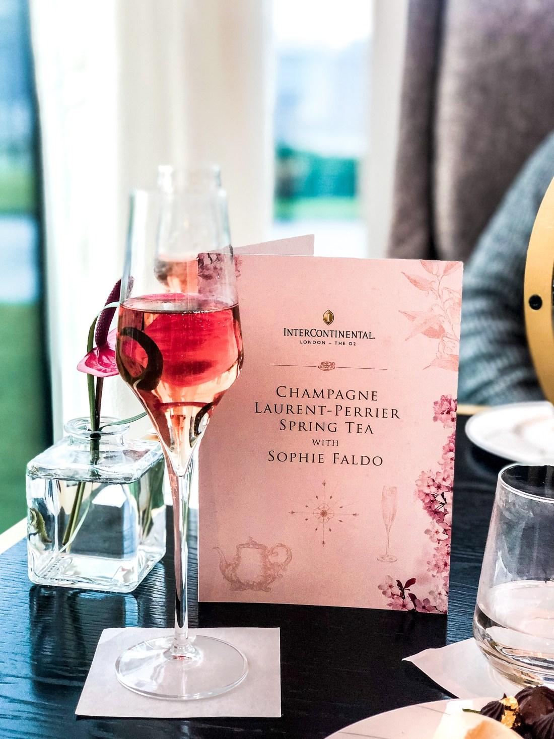 Laurent Perrier Afternoon Tea Sophie Faldo InterContinental O2 - The LDN Diaries