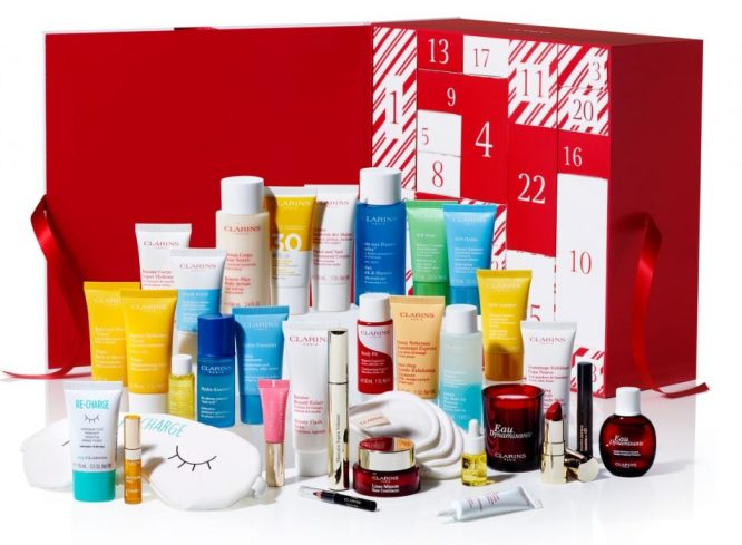 Clarins 24 Day Advent Calendar Packaging - Selfridges and Online Exclusive