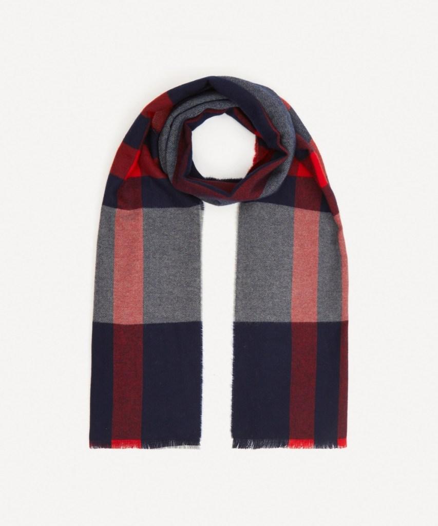 Johnstons of Elgin Check Merino Wool Scarf
