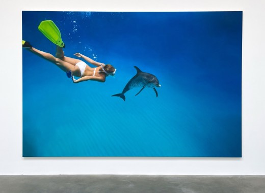 Damien Hirst Emma Swims With The Dolphin