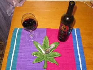 wine bottle cannabis ashtray alcohol consumer