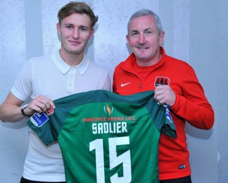 Kieran Sadlier and John Caulfield Cork City