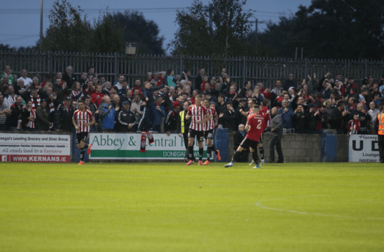 Derry City FC celebrations