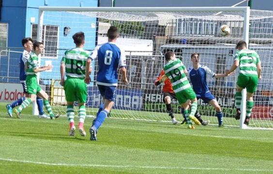 Adam O'Connor scores for Shamrock Rovers against Limerick