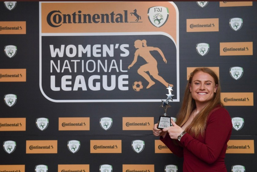 Golden Boot winner Amber Barrett Peamount United