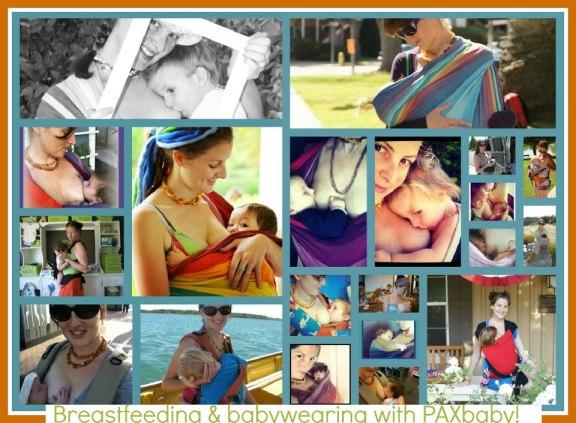 breastfeeding and babywearing, paxbaby.com, woven wrap, ring sling, breastfeeding