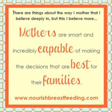 Mothers are capable breastfeeding nourish breastfeeding support