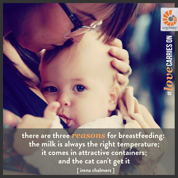 Ergo breastfeeding image