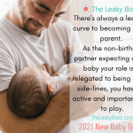 What is the nonbirthing partner or dad role with a new baby?
