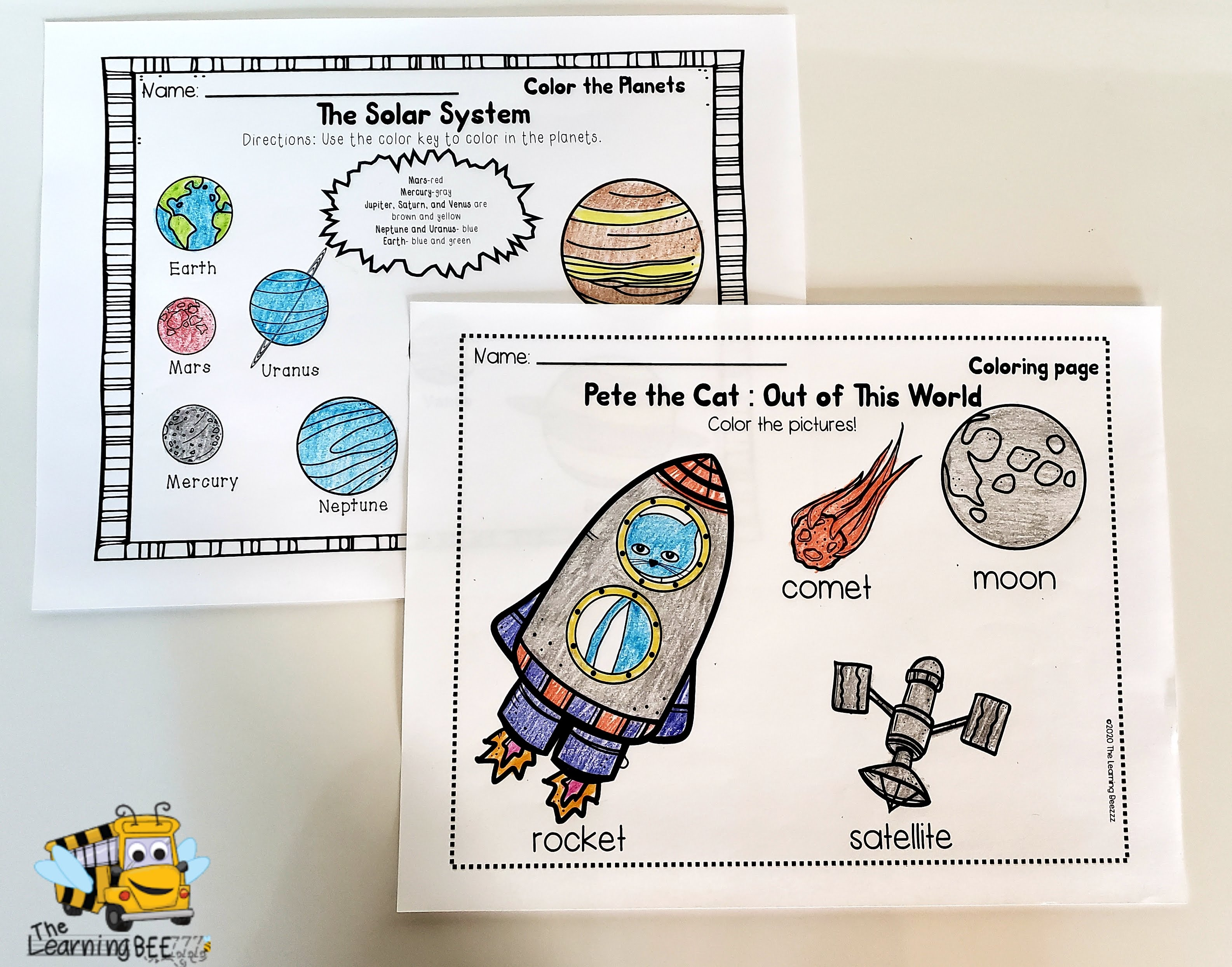 Pete The Cat Out Of This World The Learning Beezzz