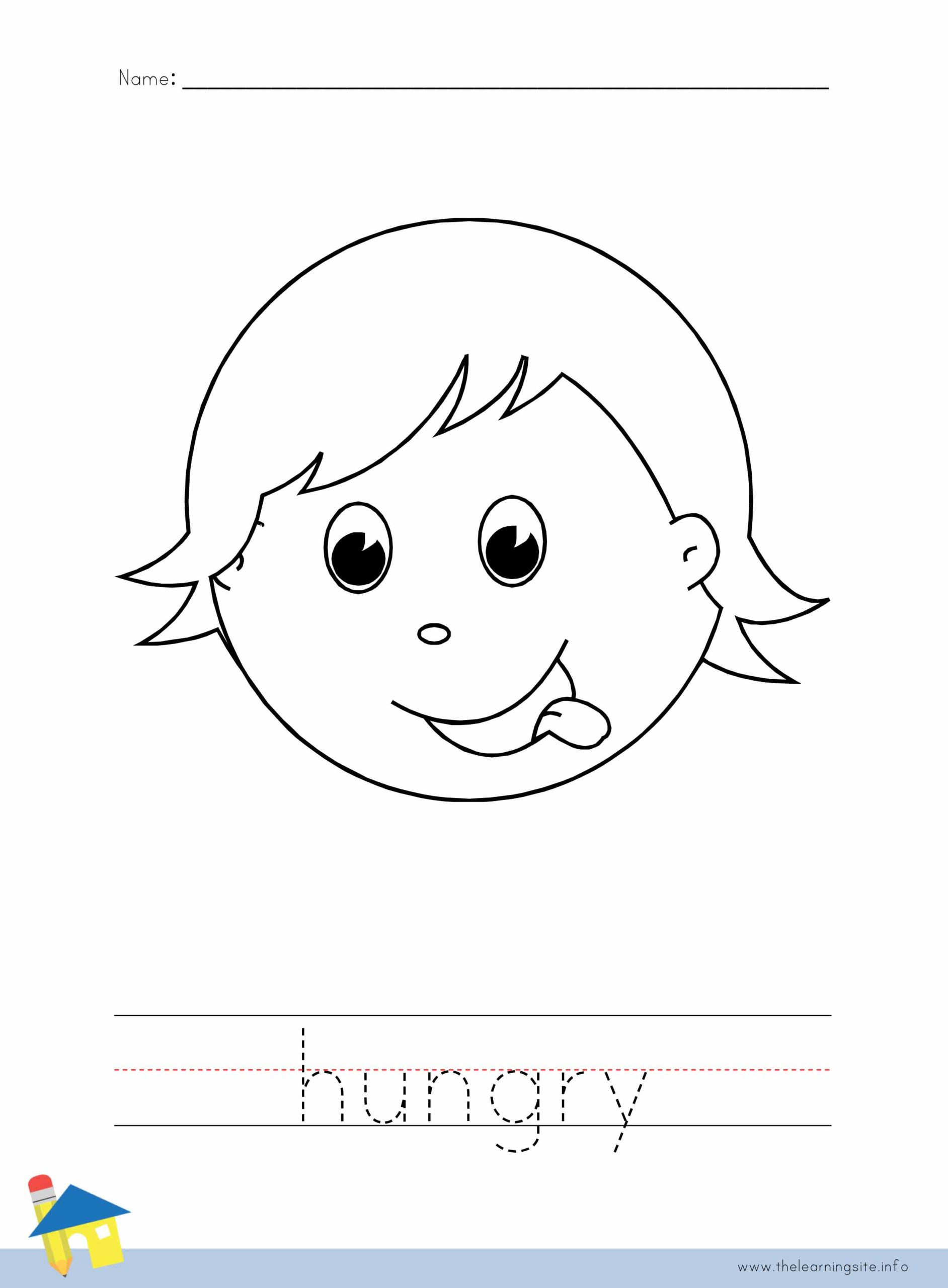 Hungry Coloring Worksheet The Learning Site