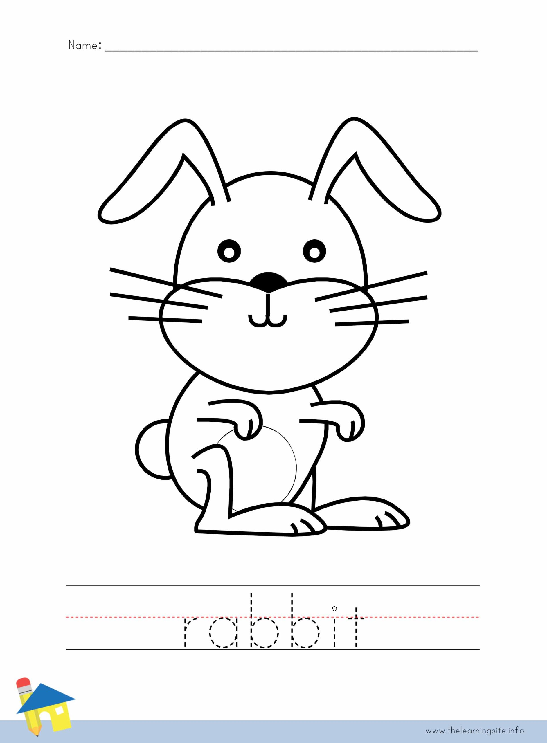 Rabbit Coloring Worksheet The Learning Site