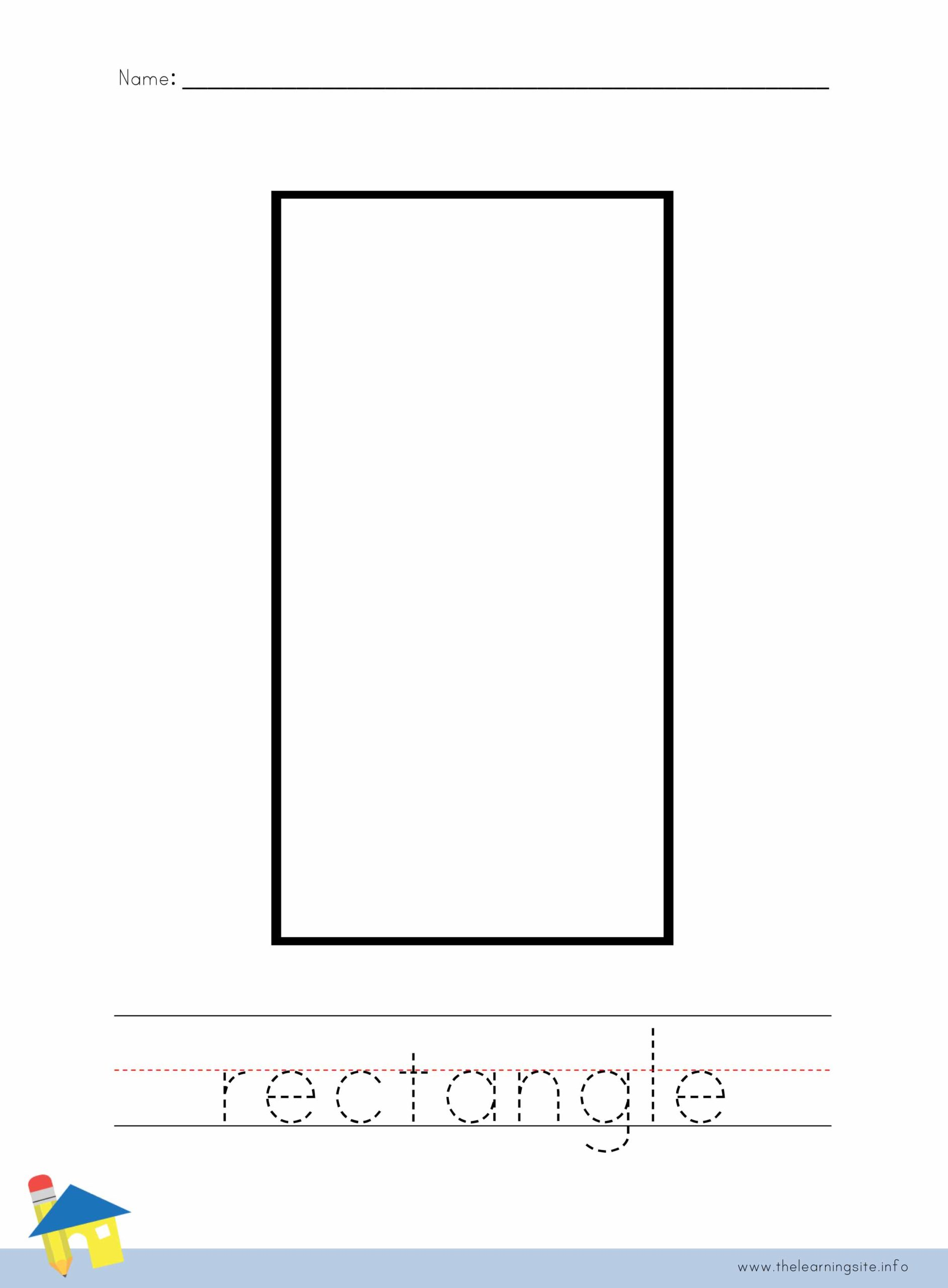 Rectangle Coloring Worksheet The Learning Site