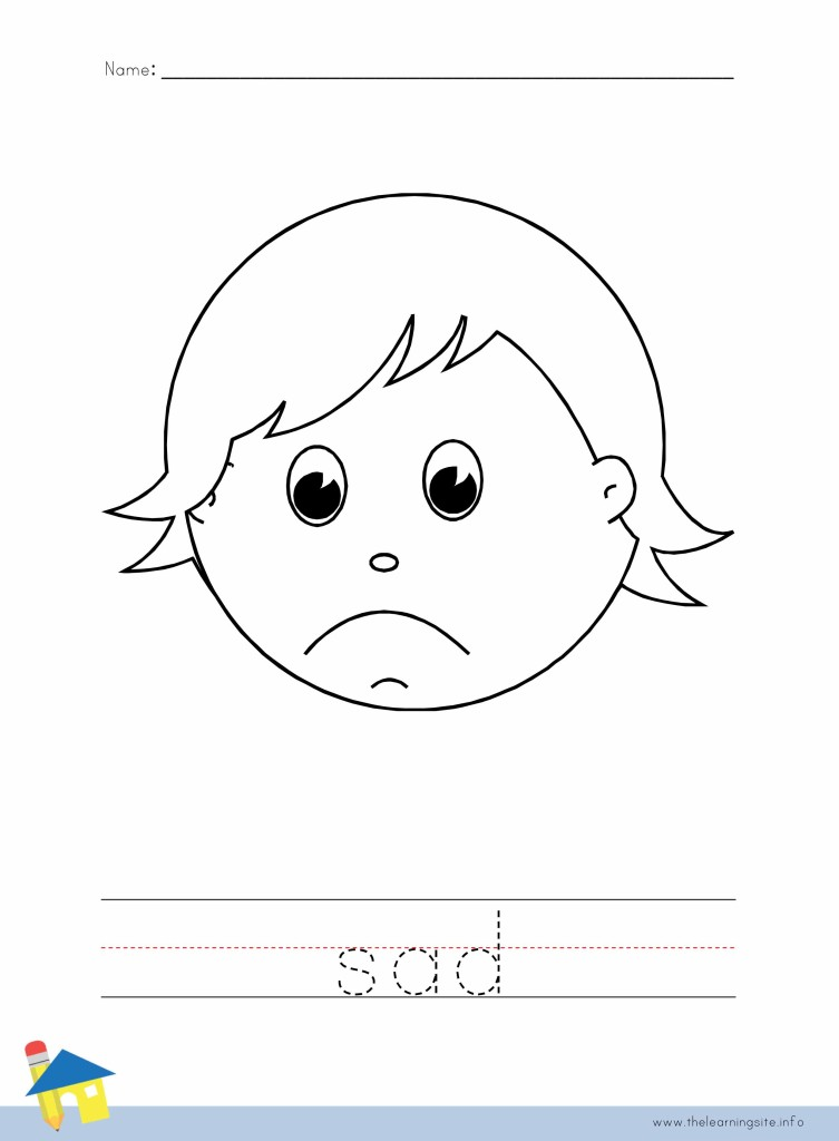 Sad Coloring Worksheet