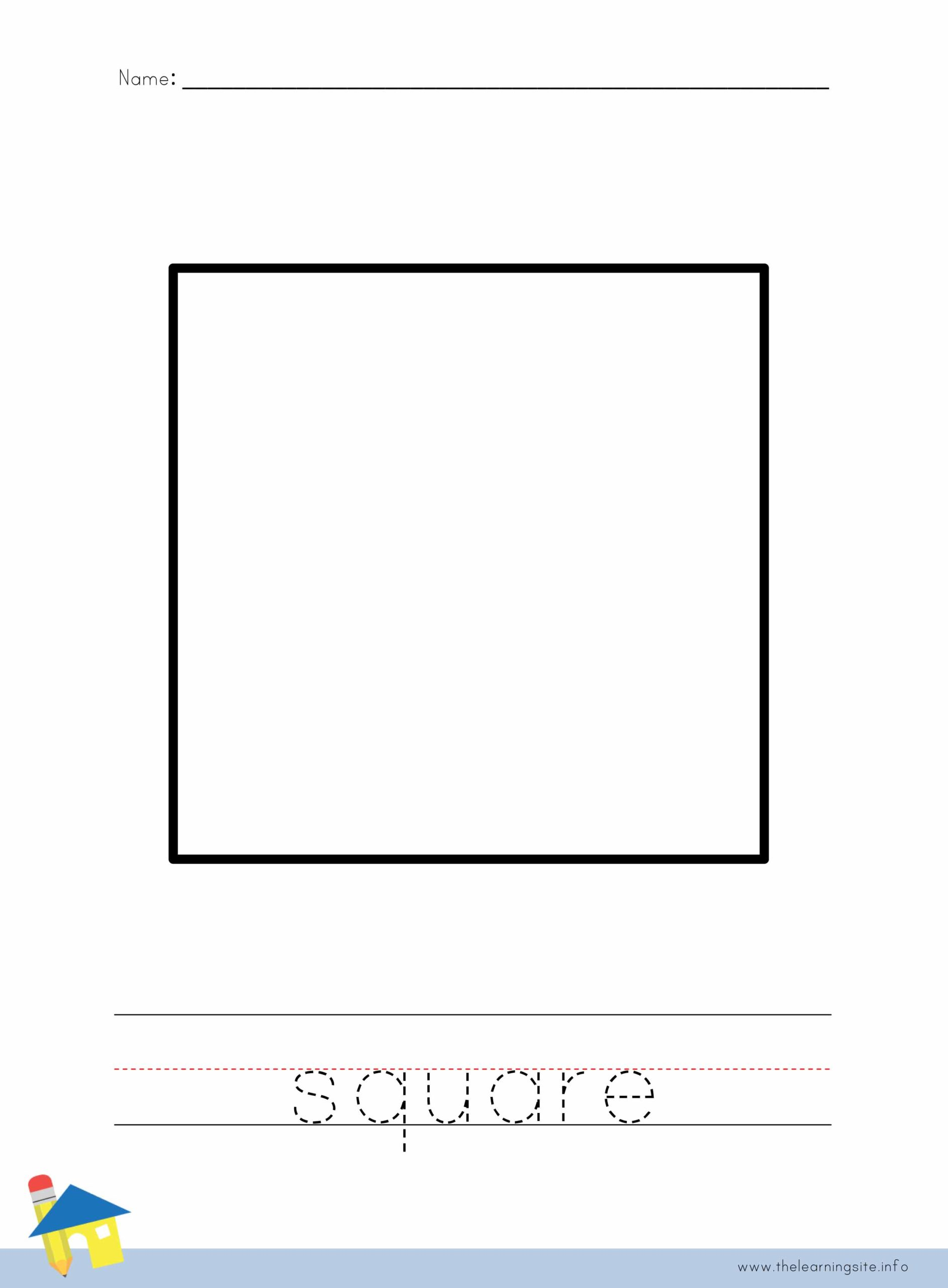Square Coloring Worksheet The Learning Site