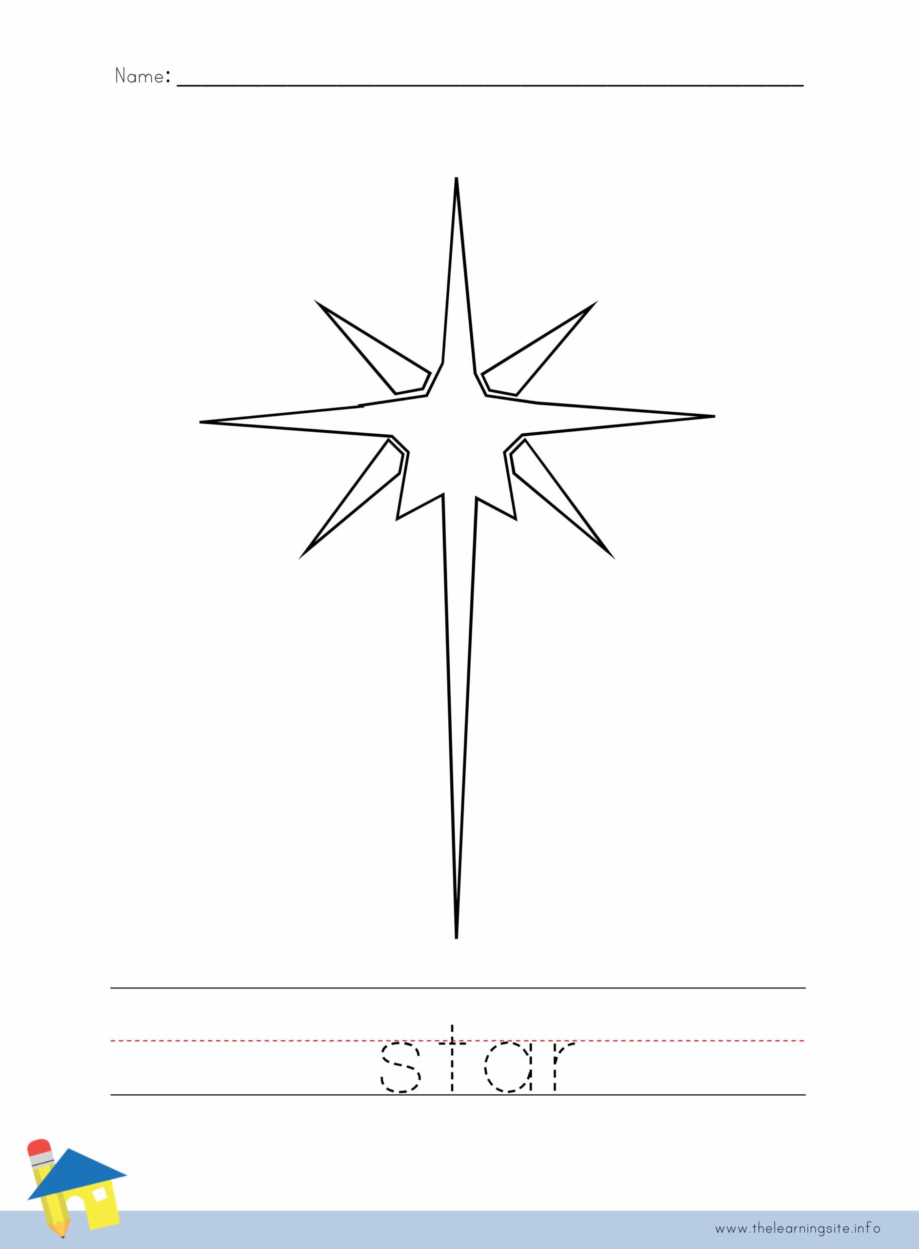 Christmas Star Coloring Worksheet The Learning Site